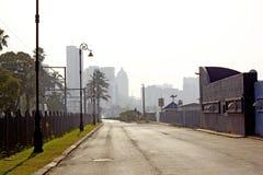 Tom Durban gata med horisont Royaltyfri Fotografi
