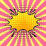 Tom dynamisk komisk anförandebubbla med prickar och remsan Vektor Co vektor illustrationer