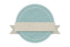Tom emblemetikett, pappers- design för rengöringsduken, klistermärkear, etiketter Fotografering för Bildbyråer