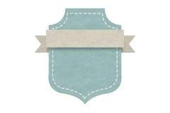 Tom emblemetikett, pappers- design för rengöringsduken, klistermärkear, etiketter Arkivfoto