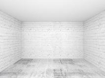 Tom för ruminre för vit 3d bakgrund Arkivfoton