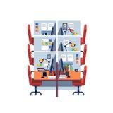 Tom företags inre för utrymme för sovalkovkontorsarbete royaltyfri illustrationer