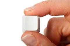 tom fingertangent Arkivbild