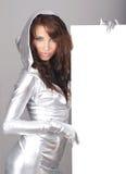 tom flicka för bräde som rymmer sexig white Royaltyfri Fotografi