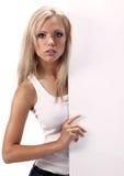 tom flicka för bräde som visar white Royaltyfri Foto