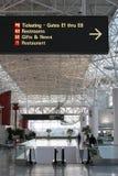 tom flygplats Arkivbild