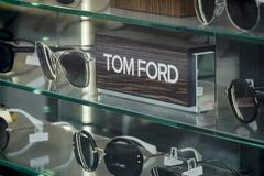 Tom Ford eyewear arkivfoton
