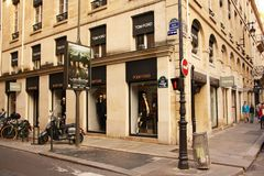 Tom Ford store in Paris (France) Stock Photos