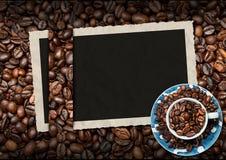 Tom fotoram för ett kaffehus Arkivfoto