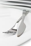 tom gaffelkniv för maträtt Arkivbild