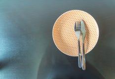 tom gaffelkniv för maträtt Royaltyfria Foton