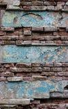 Tom gammal textur för tegelstenvägg Royaltyfri Fotografi
