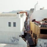 Tom gata i Santorini Fotografering för Bildbyråer