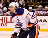 Tom Gilbert, Edmonton Oilers. Royalty Free Stock Images