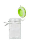 Tom glass jar Arkivbilder