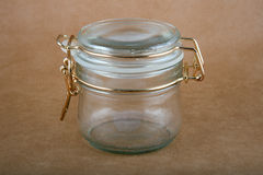 tom glass jar Royaltyfria Bilder
