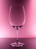 tom glass rött vin Arkivfoto
