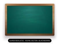 tom grön svart tavla på vit bakgrund Fotografering för Bildbyråer