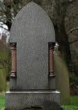 Tom granitgravsten/Gravestone Arkivbild