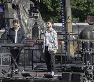 Tom Grennan Live On Stage Immagine Stock