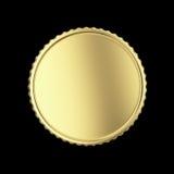 Tom guld- medalj Arkivbild