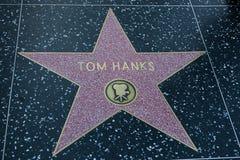 Tom Hanks Hollywood Star arkivbild
