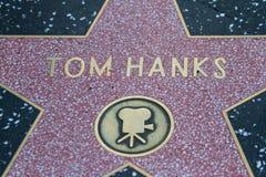 Tom Hanks ' Hollywood stjärna royaltyfri fotografi