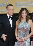 Tom Hanks & Rita Wilson foto de stock