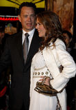 Tom Hanks and Rita Wilson. Attend the World Premiere of `Charlie Wilson`s War` held at the Universal Studios in Hollywood, California, United States on Monday Royalty Free Stock Image