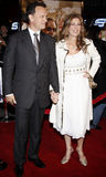 Tom Hanks and Rita Wilson. Attend the World Premiere of `Charlie Wilson`s War` held at the Universal Studios in Hollywood, California, United States on Monday Royalty Free Stock Photos