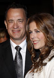 Tom Hanks and Rita Wilson. Attend the World Premiere of `Charlie Wilson`s War` held at the Universal Studios in Hollywood, California, United States on December Stock Image