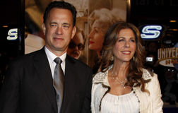 Tom Hanks and Rita Wilson. Attend the World Premiere of `Charlie Wilson`s War` held at the Universal Studios in Hollywood, California, United States on December Royalty Free Stock Photo