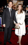 Tom Hanks and Rita Wilson. 12/10/2007 - Hollywood - Tom Hanks and Rita Wilson attend the World Premiere of `Charlie Wilson`s War` held at the Universal Studios Royalty Free Stock Photo