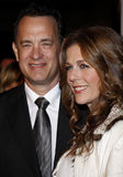 Tom Hanks and Rita Wilson. 12/10/2007 - Hollywood - Tom Hanks and Rita Wilson attend the World Premiere of `Charlie Wilson`s War` held at the Universal Studios Stock Image