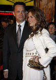 Tom Hanks and Rita Wilson. 12/10/2007 - Hollywood - Tom Hanks and Rita Wilson attend the World Premiere of `Charlie Wilson`s War` held at the Universal Studios Royalty Free Stock Image