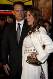 Tom Hanks and Rita Wilson. HOLLYWOOD, CALIFORNIA. Monday December 10, 2007. Tom Hanks and Rita Wilson attend the World Premiere of `Charlie Wilson`s War` held at Royalty Free Stock Photos