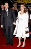 Tom Hanks and Rita Wilson. HOLLYWOOD, CALIFORNIA. Monday December 10, 2007. Tom Hanks and Rita Wilson attend the World Premiere of `Charlie Wilson`s War` held at Royalty Free Stock Photography