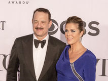 Tom Hanks and Rita Wilson. Oscar-winning actor Tom Hanks and wife Rita Wilson, an actress and singer, arrive on the Red Carpet at Radio City Music Hall in New Stock Photography