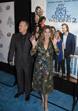 Tom Hanks and Rita Wilson. Oscar-winning actor Tom Hanks and wife, actress, singer, and producer Rita Wilson, arrive at the New York City premiere of Universal Stock Image