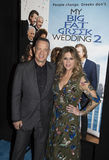 Tom Hanks and Rita Wilson. Oscar-winning actor Tom Hanks and wife, actress, singer, and producer Rita Wilson, arrives at the New York City premiere of Universal Stock Photography