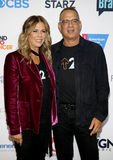 Tom Hanks and Rita Wilson. At the 5th Biennial Stand Up To Cancer held at the Walt Disney Concert Hall in Los Angeles, USA on September 9, 2016 Royalty Free Stock Images