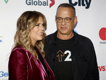 Tom Hanks and Rita Wilson. At the 5th Biennial Stand Up To Cancer held at the Walt Disney Concert Hall in Los Angeles, USA on September 9, 2016 Stock Photos