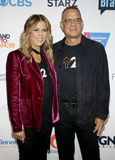 Tom Hanks and Rita Wilson. At the 5th Biennial Stand Up To Cancer held at the Walt Disney Concert Hall in Los Angeles, USA on September 9, 2016 Stock Image