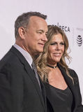Tom Hanks and Rita Wilson at 2017 Tribeca Film Festival Premiere of `The Circle` Royalty Free Stock Photo