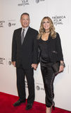 Tom Hanks and Rita Wilson at 2017 Tribeca Film Festival Premiere of `The Circle` Stock Photo