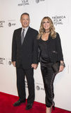 Tom Hanks and Rita Wilson at the 2017 Tribeca Film Festival Premiere of `The Circle`. Stylish Hollywood power couple, Oscar winning actor Tom Hanks and singer Royalty Free Stock Image