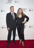 Tom Hanks and Rita Wilson at the 2017 Tribeca Film Festival Premiere of `The Circle`. Stylish Hollywood power couple, Oscar winning actor Tom Hanks and singer Royalty Free Stock Photos
