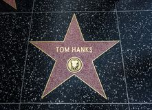 Tom Hanks-` s Stern, Hollywood-Weg des Ruhmes - 11. August 2017 - Hollywood Boulevard, Los Angeles, Kalifornien, CA Lizenzfreies Stockbild
