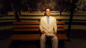Tom Hanks Wax Statue Lizenzfreie Stockfotografie