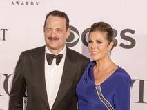 Tom Hanks y Rita Wilson Fotografía de archivo